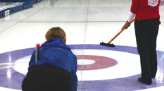curling, sport - stock footage