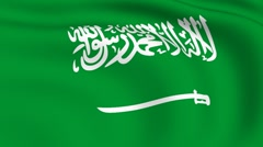 Stock Video Footage of flying flag of saudi arabia | looped |