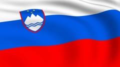 Flying flag of slovenia | looped | Stock Footage