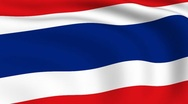 Stock Video Footage of flying flag of thailand | looped |