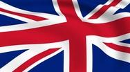 Flying flag of united kingdom | looped | Stock Footage
