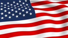 flying flag of united states | looped | - stock footage