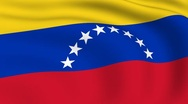 Flying flag of venezuela | looped | Stock Footage