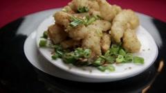 Spicy Calamari - stock footage