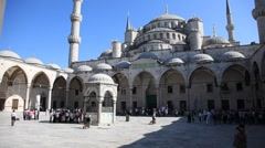 Blue mosque scene 3 HD 1080p Stock Footage