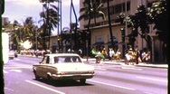 Street Scene Honolulu, Hawaii Circa 1971 (Vintage Film Home Movie Footage) 823 Stock Footage
