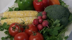 Organic farm fresh vegetables. Stock Footage