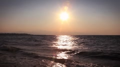 Walking in the  sunset Stock Footage