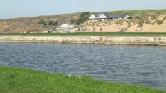 Bude Canal and Beach, Cornwall Stock Footage