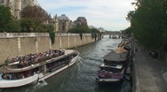Stock Video Footage of Bateau close to Ile de la cite