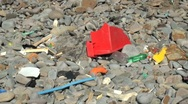 Beach Litter Stock Footage