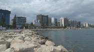 Stock Video Footage of Cyprus, Coastline of Limassol