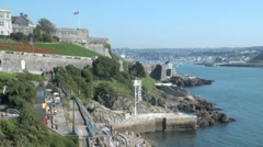 Plymouth Hoe Waterfront, UK Stock Footage