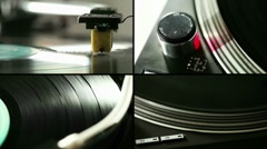 Turntable composition - stock footage