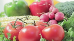 Organic farm fresh vegetables. - stock footage