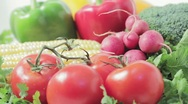 Stock Video Footage of Organic farm fresh vegetables.