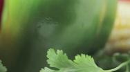 Organic farm fresh vegetables. Stock Footage