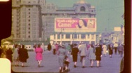 Stock Video Footage of Atlantic City Boardwalk Circa 1942 (Vintage Film 8mm Home Movie) 838