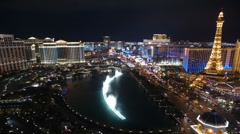 Las Vegas Editorial Time Lapse Night Stock Footage