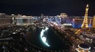 Stock Video Footage of Las Vegas Editorial Time Lapse Night
