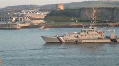 UK Border Agency Boat Stock Footage