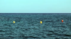 Buoys on the sea surface Stock Footage