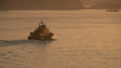 RNLI Lifeboat at Dusk Stock Footage