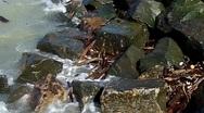 Waves crashing on rocks 3 Stock Footage