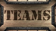 Teams on wooden stamp Stock Footage