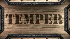 temper on wooden stamp - stock footage