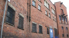 Old Industrial Brick Building Stock Footage