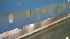 A row of Portholes Stock Footage