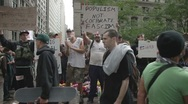 Stock Video Footage of wall street demonstration manhattan NYC