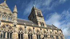 Architecture Guildhall Northampton, UK Stock Footage
