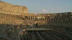 Inside the Colosseum in the afternoon Stock Footage