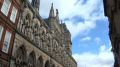 Architecture Guildhall Northampton, UK Stock Footage