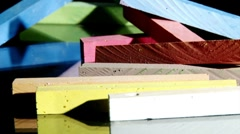 Chalk, colorful, horizontal, dolly Stock Footage
