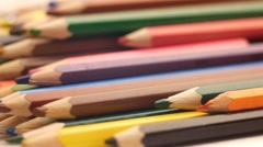Art. Coloured pencils  Stock Footage