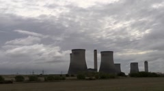 Time lapse clouds behind Didcot Power Station. Stock Footage