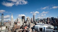 Stock Video Footage of new york skyline manhattan NYC ny timelapse