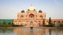 India, Delhi, Humayun's tomb - TLapse Stock Footage