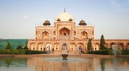 Stock Video Footage of India, Delhi, Humayun's tomb - TLapse