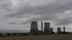 Time lapse clouds behind Didcot Power Station. 2 Stock Footage
