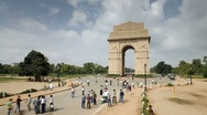 Stock Video Footage of India, Delhi, New Delhi, India Gate - Tlapse
