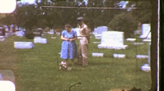 Soldier Memorial Day Cemetery Mother Son Death 1960s Vintage Film Home Movie 843 Stock Footage