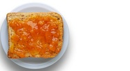 Stock Video Footage of toast with apricot jam