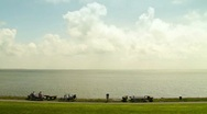 Stock Video Footage of View over the Wadden Sea
