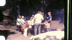 Family Picnic Lunch Circa 1955 (Vintage Film 8mm Home Movie) 847 Stock Footage