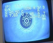 Examination visual of human eye at screen. Stock Footage