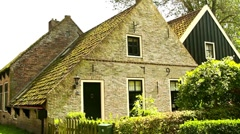 Old Dutch house from 1793 Stock Footage